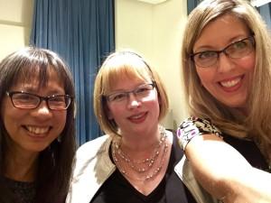 Kelli Agodon, me, and Donna Miscolta post-reading