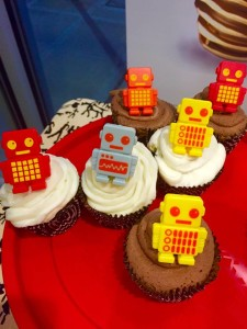 Robot cupcakes (these became wearable robot rings!)
