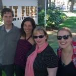 Natasha Moni and Ariel, Kelly Davio and myself