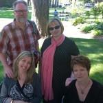 Allen Braden, Kelli Agodon, Annette Spaulding-Convy, and me
