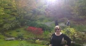 In Seattle's Japanese garden
