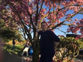 Glenn with cherry tree