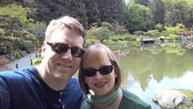 Glenn and I in the Japanese Garden