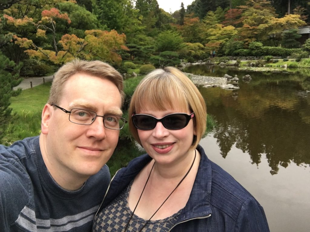 Glenn and I at the Japanese garden