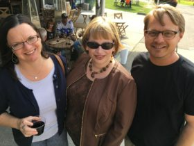 With poet Jared Leising and his lovely wife Julie