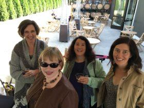 Lovely poets Susan Rich, Kathleen Flenniken, Natasha Moni, and me
