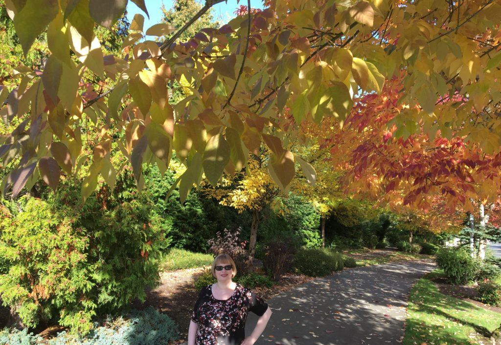 Me with fall leaves
