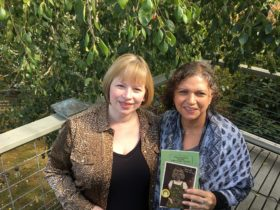 Lana Ayers and I strike a pose with my new book
