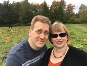 Glenn and I at Serres Farm Pumpkin patch